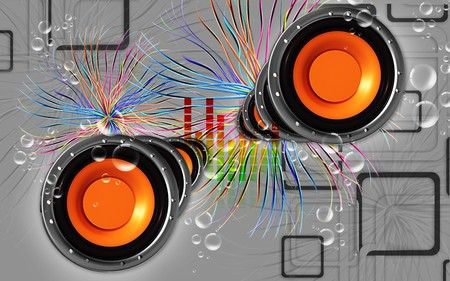 Digital illustration of car stereo in colour background Stock Illustration - 7526554