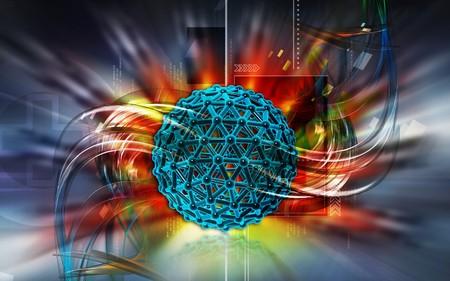 Digital illustration of gene in colour background  illustration