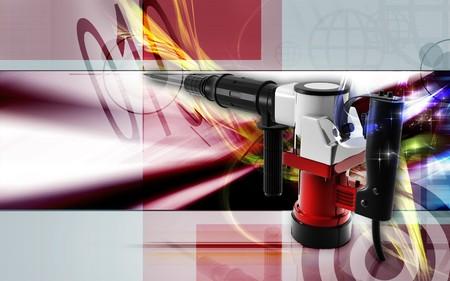 Digital illustration of electric breaker in colour background  illustration