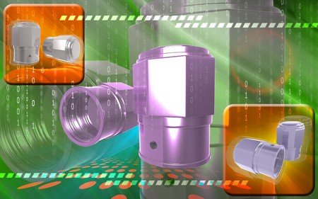 inflating: Digital illustration of Valve caps in colour background  Stock Photo