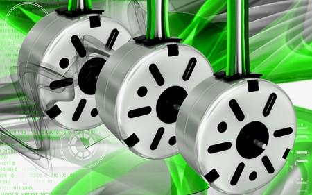 stepper: Digital illustration of electric stepper in colour background