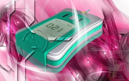 Digital illustration of Glocometre in colour background  illustration