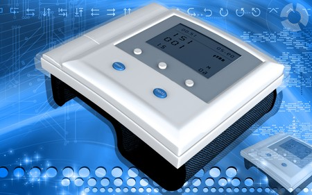 Digital illustration of  blood pressure monitor in colour  background Stock Illustration - 7790923