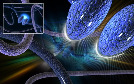 synapse: Digital illustration of synapse in colour background   Stock Photo