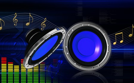 Digital illustration of car stereo in colour background Stock Illustration - 8197162