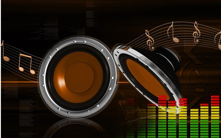 Digital illustration of car stereo in colour background Stock Illustration - 8197164