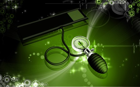 sphygmomanometer: Digital illustration of sphygmomanometer in colour background