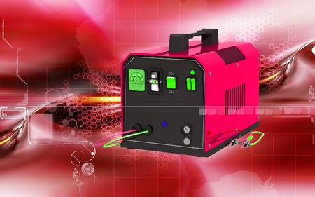 battery charger: Digital illustration of Battery charger in colour background