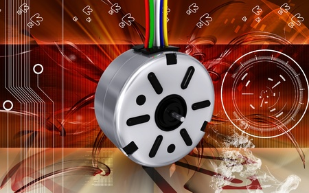stepper: Digital illustration of electric stepper in colour background  Stock Photo