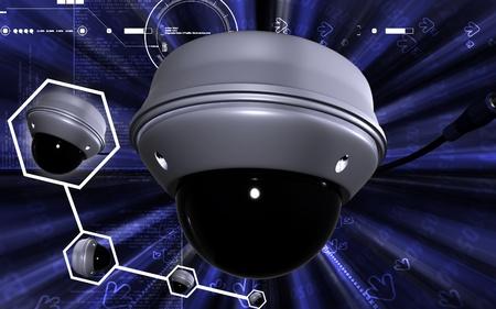 Digital illustration of security camera in colour background Stock Illustration - 8546640
