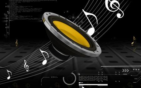 equipo de sonido: Ilustraci�n digital est�reo de autom�vil en el fondo de color