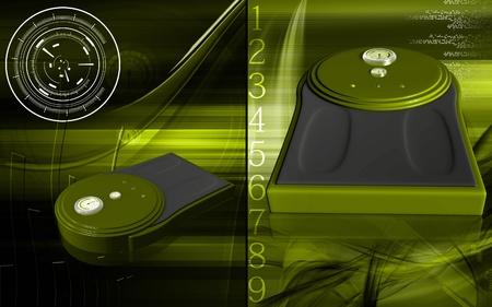 weigh machine: Digital illustration of weigh machine  in colour background