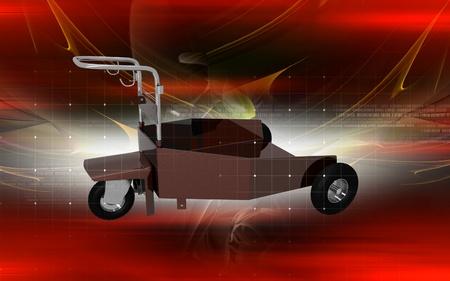 heavy duty: Digital illustration of heavy duty trolley  in colour background