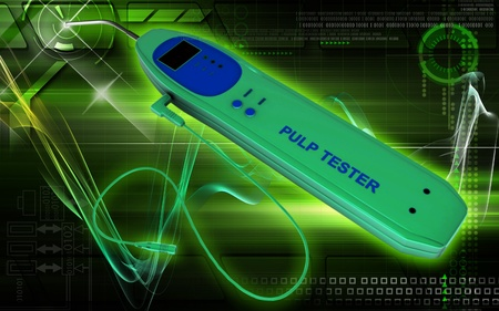 Digital illustration of pulp tester in colour background Stock Illustration - 8856179