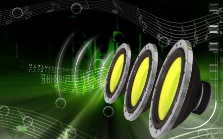 stereo: Illustration num�rique de st�r�o de voiture en fond de couleur