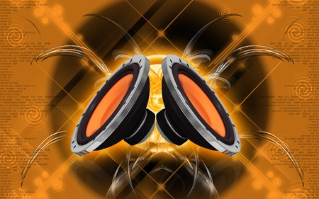 Digital illustration of car stereo in colour background Stock Illustration - 8855750