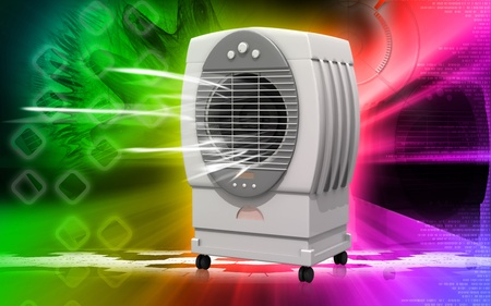 Digital illustration of  a Cooler   in background Stock Illustration - 9089283