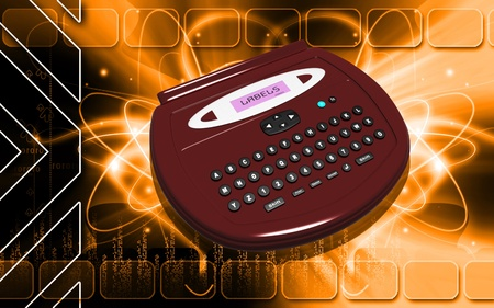 operated: Digital illustration of  a Label maker  in colour background