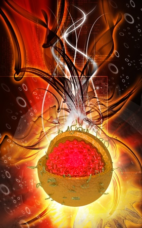 Digital illustration of  Hepatitis in  colour  background Stock Illustration - 9258428