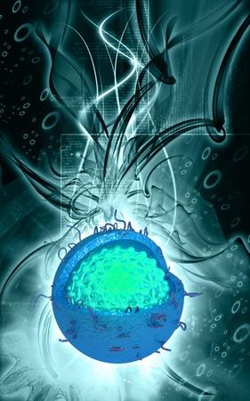 hepatitis a: Digital illustration of  Hepatitis in  colour  background