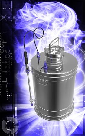 sprayer: Digital illustration of  a Pressure sprayer  in colour background