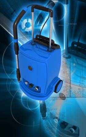 Digital illustration of vacuum cleaner  in colour background  illustration