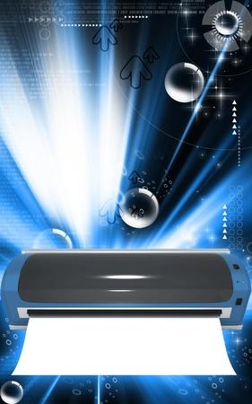 laminate flooring: Digital illustration of  a Laminator in colour background   Stock Photo