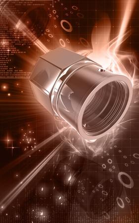 tubeless: Digital illustration of Valve caps in colour background  Stock Photo