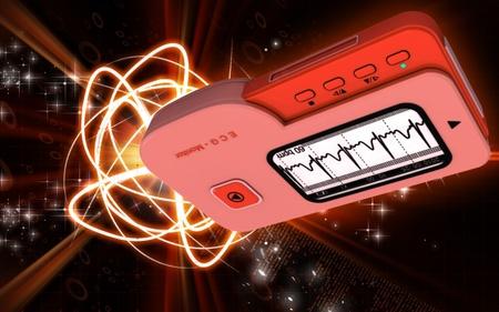 red gram: Digital illustration of  ECG in  colour  background