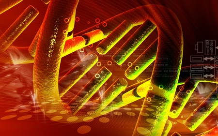 chromosome: Digital illustration DNA structure in colour background