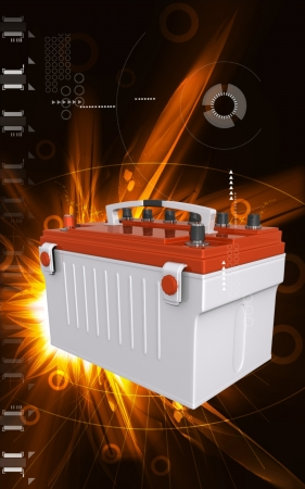 car battery: Digital illustration of a battery range in colour background   Stock Photo