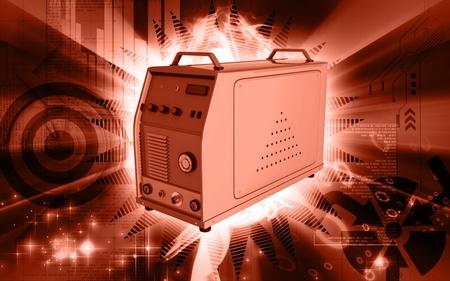 Digital illustration of inverter in colour background Stock Illustration - 9664717
