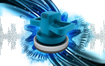 Digital illustration of Car polisher in colour background Stock Illustration - 9665539
