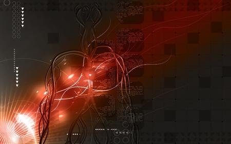 blood vessel: Digital illustration of vascular system in colour background