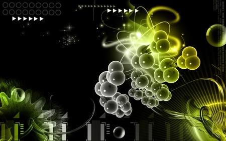 Digital illustration DNA structure  in colour background Stock Illustration - 9710928