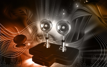 converge: Digital illustration of  a Solar security light  in colour background   Stock Photo