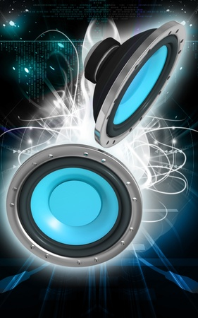 car audio: Digital illustration of car stereo in colour background