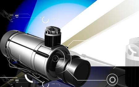 air compressor: Digital illustration of air compressor in colour background