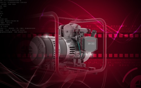 standby: Digital illustration of a generator  in colour background  Stock Photo