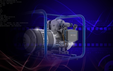 Digital illustration of a generator  in colour background Stock Illustration - 9953855