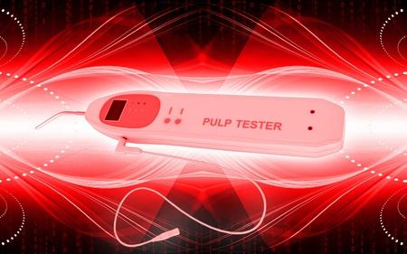 Digital illustration of pulp tester in colour background   illustration