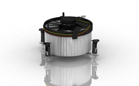 Digital illustration of Processor fan in isolated  background  illustration