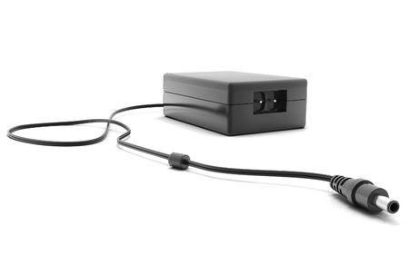 alternating current: Digital illustration of adapter in isolated  background