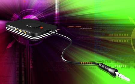 portable radio: Digital illustration of Bluetooth device  in colour background  Stock Photo