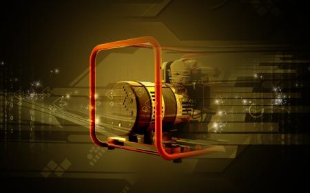 generador: Ilustraci�n digital de un generador en el fondo de color