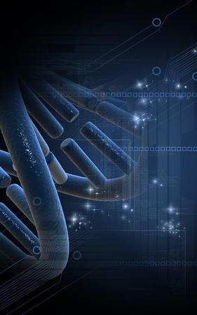 Digitální ilustrace DNA struktura v barvě pozadí Reklamní fotografie