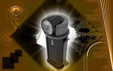 Digital illustration of light in colour background Stock Illustration - 10028865