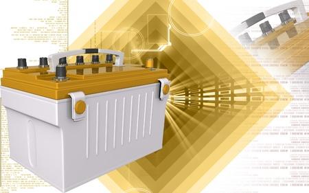 Digital illustration of a battery range in colour background   illustration