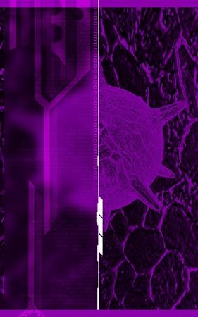 herpes virus: Digital illustration of  herpes virus in colour  background