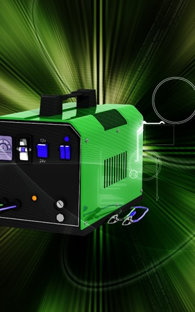 charger: Digital illustration of Battery charger in colour background